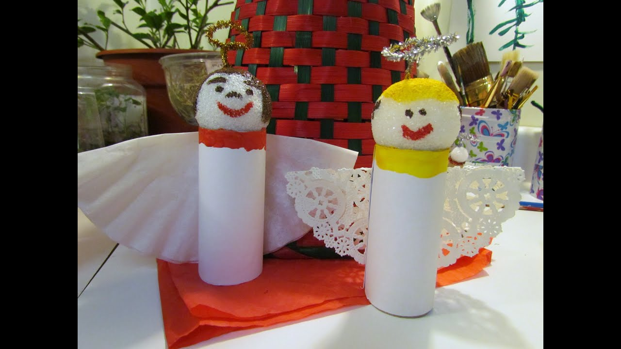 How To Make An Angel Ornament Toilet Paper Tube Coffee