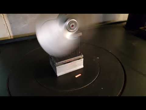 Homemade wood stove fan