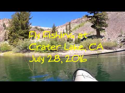 Crater Lake CA Fly Fishing 7 28 16