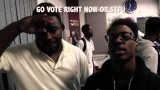 GO VOTE NOW - Lil Ronny MothaF & MykFresh w/ K104 FM & DFW Artists Telling You to Vote!!!