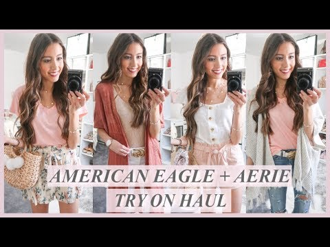 AMERICAN EAGLE + AERIE TRY ON HAUL | SPRING CLOTHING HAUL 2019