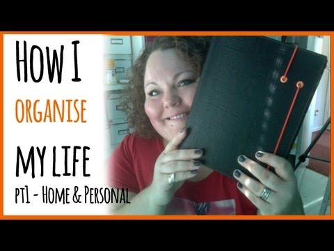 How I Organise My Life (Part One: Personal & Home) Using my Filofax