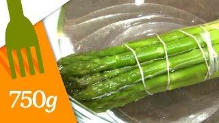 Cuire des asperges vertes en botte - 750 Grammes