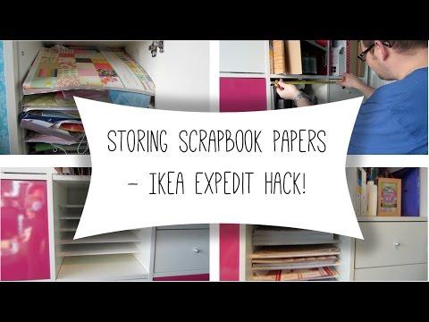 Storing Scrapbook Papers Ikea Expedit Hack Youtube