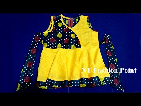 ZERO SIZE BABY LONG TOP/TEP (BABY DRESS)-CUTTING & STITCHING EASY METHOD (DIY)