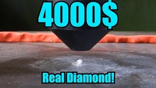 Crushing Real Diamond with Hydraulic Press