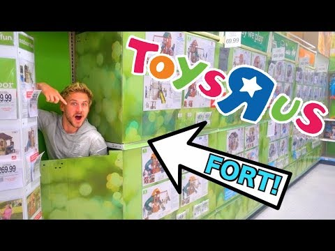 HIDDEN FORT IN TOYS R US!