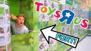 Hidden Fort In Toys R Us!