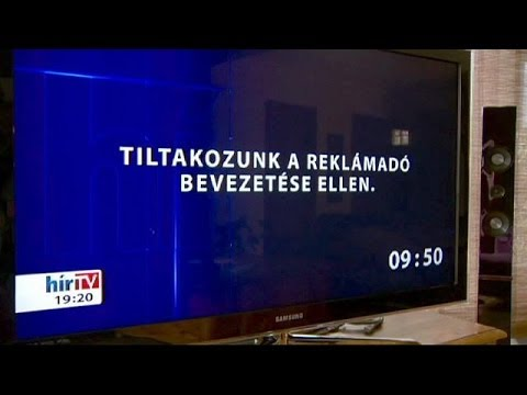 Hungary: TV blackout to protest proposed ad tax