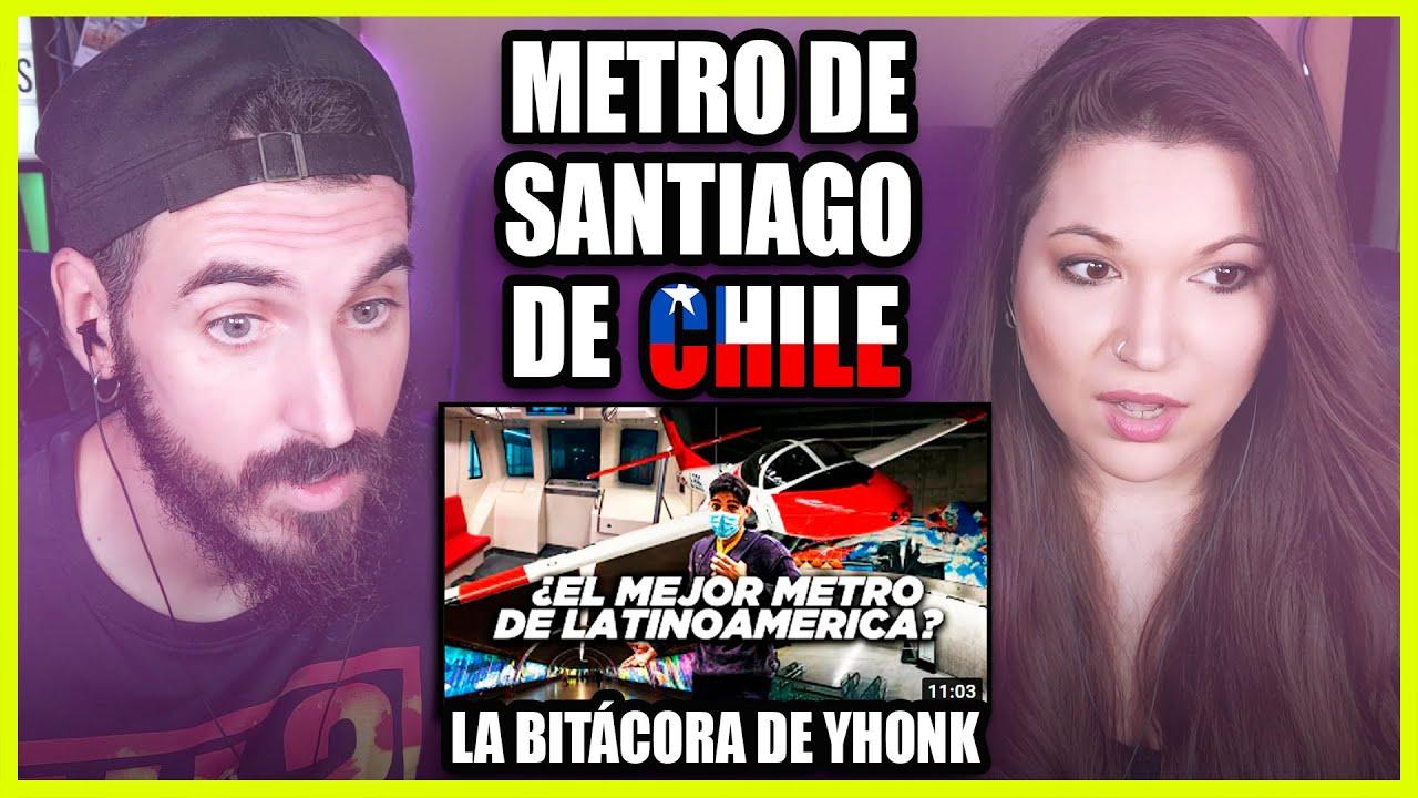 👉 Españoles REACCIONAN al METRO de SANTIAGO DE CHILE | Somos Curiosos