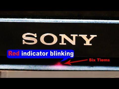Sony Bravia LED Tv 6 Times Blinking Problem Solution.