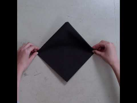 Tork Linstyle Pliage Serviettes Forme Pyramide Noir Youtube