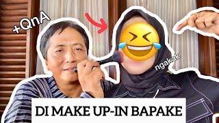DI MAKEUP-IN BAPAK + QnA| DAD DOES MY MAKEUP CHALLENGE🤣