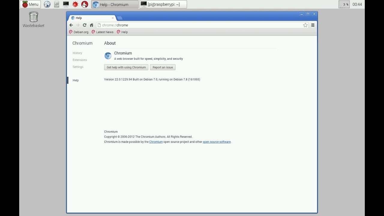 Install and run Chromium browser on Raspberry Pi 2
