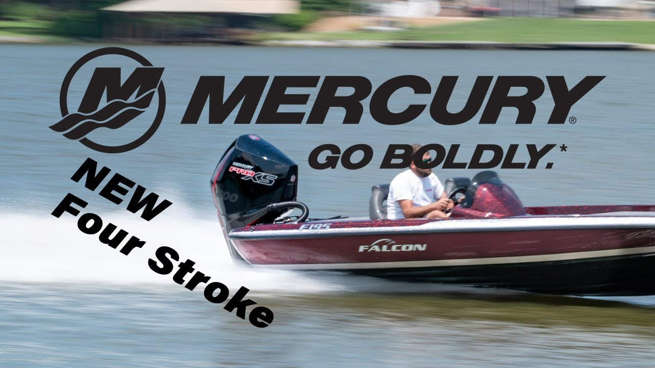 Mercury 200hp PRO XS four stroke V-8 on a Falcon F195 first run
