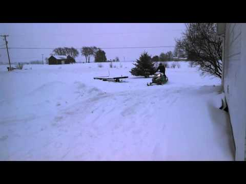 Funny Snowmobile Wipeout GOTTA SEE