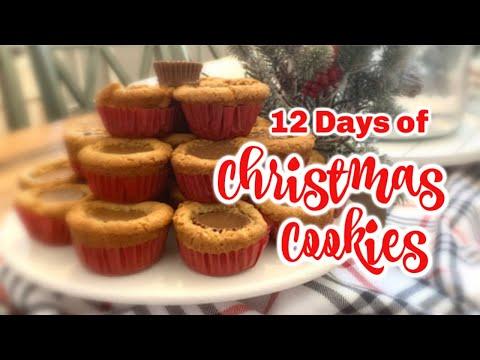 TWELVE DAYS OF CHRISTMAS COOKIES DAY 1   CHRISTMAS COOKIES   REESE'S PEANUT BUTTER COOKIES