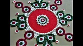 Creative Rangoli Design Using Bangles| Easy Rangoli by Shital Mahajan.