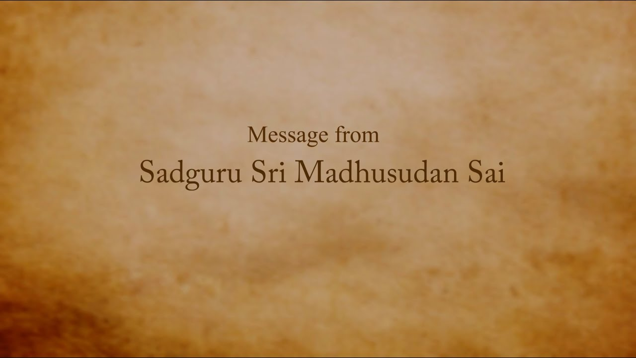 2020, Ideal Village Conference at Stanford - Message from Sadguru Sri Madhusudan Sai