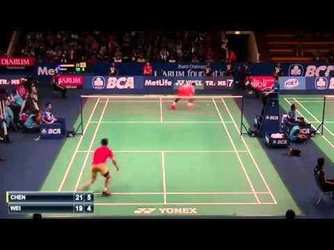 Chen Long vs Wei Nan | R1 Indonesia Badminton Open 2015  New