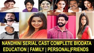 Nandhini TV Serial Cast Education|BioData|Family|Private|Sun TV Nandhini Serial Actors Unseen Photo