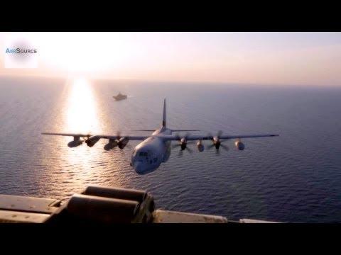 U.S. Marines Aerial Refueling (KC-130, Sea Stallion. 2014)