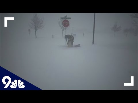 RAW: Videos show blizzard, hurricane-force winds slamming Colorado