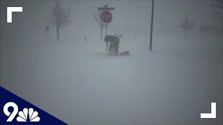 RAW: Videos show blizzard, hurricane-force winds slamming Colorado