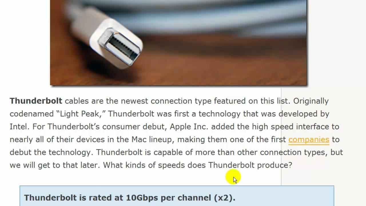USB 2.0 vs. USB 3.0 vs. eSATA vs. Thunderbolt vs. Firewire vs ...