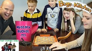 Playing Bugs in the Kitchen with Mystery Bucket Surprise / That YouTub3 Family