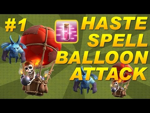 Clash of Clans - Haste Spell Balloons + Minions (Balloonion) Attack Strategy - Town Hall 9 (TH9) COC