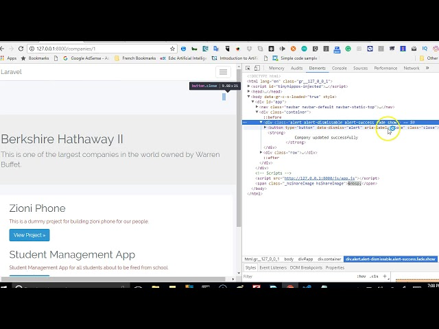 Laravel 5 5 tutorial   33   fixing success flash message not showing