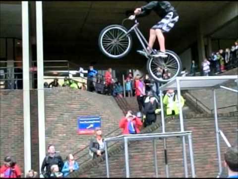 Stunt Bike in slow motion at Cambridge Science Festival 2012 part III