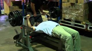 Heavy Duty Olympic Bench 3 - Home Gym Exercises - Equipment from Force USA