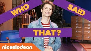 Play 'WHO SAID IT?' 🙊 w/ Jace Norman, Lizzy Greene, Kira Kosarin & More! | #KnowYourNick