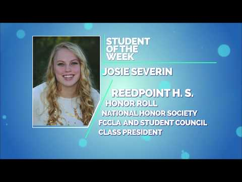 Student of the Week: Willem Steinfeldt and Josie Severin of Reed Point High School