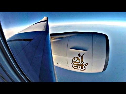 Emirates Boeing 777-300ER - First Flight ATH-LCA - GoPro Engine/Wing View GE90 - Takeoff/Landing