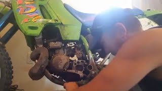 Kawasaki 200 kdx-bike maitnenance part 1 of 2