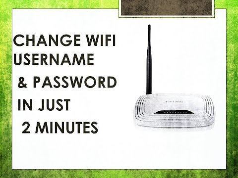 #WIFI PASSWORD - HOW TO CHANGE WIFI NAME AND PASSWORD IN 2 MINUTES (TP-LINK) NEW METHOD - 2019