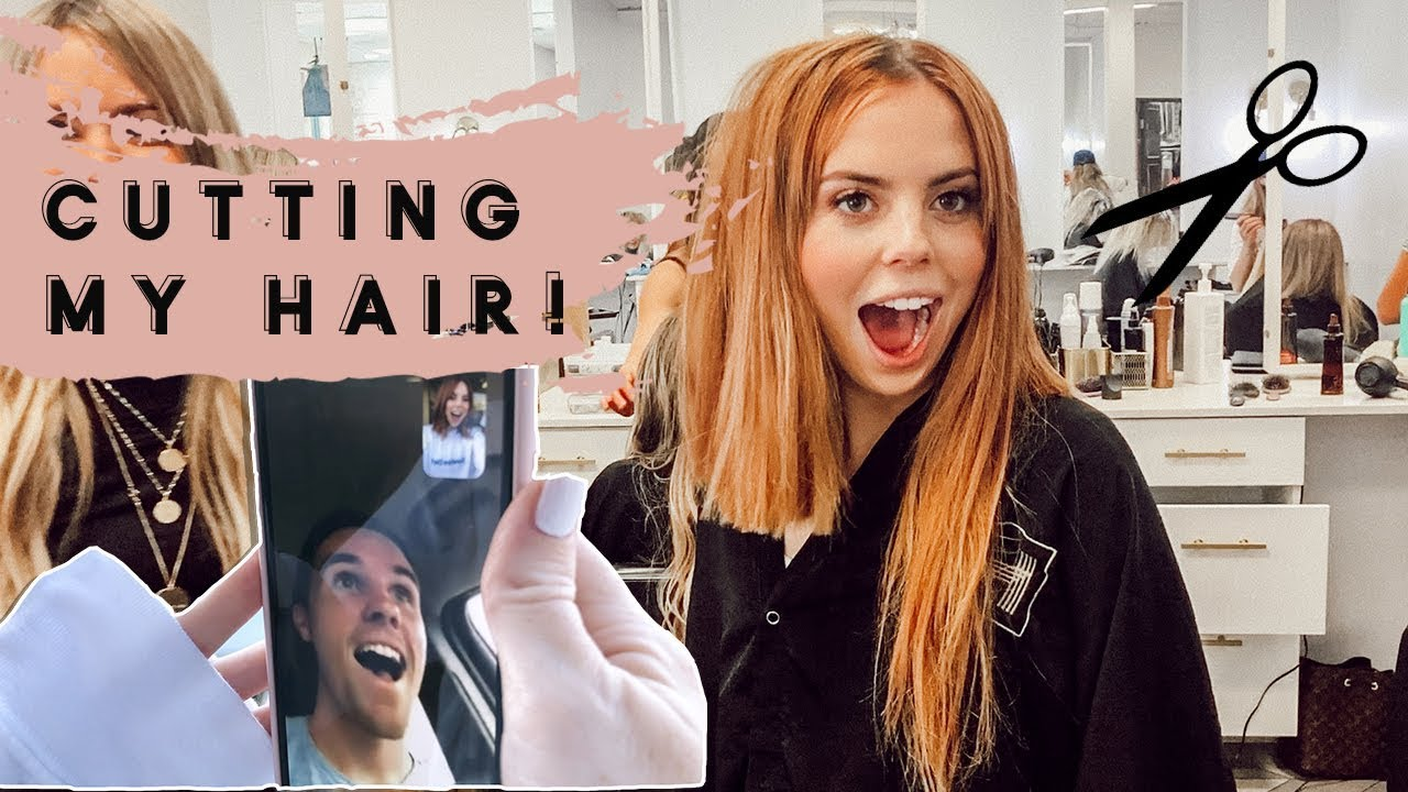 Husband Reacts To Chopping My Hair Youtube