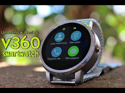 Unboxing e Review SmartWatch v360 - Android e iOS [Português Brasil]