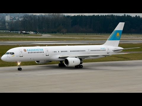 Kazakhstan Government Boeing 757 at ZRH (WEF 2015)
