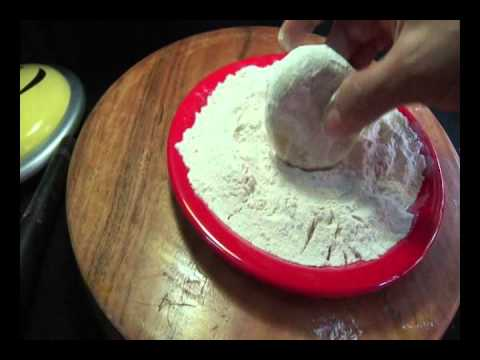 How to Stuff and Roll Aloo Paratha - Indian Food Andhra Cooking Telugu Vantalu