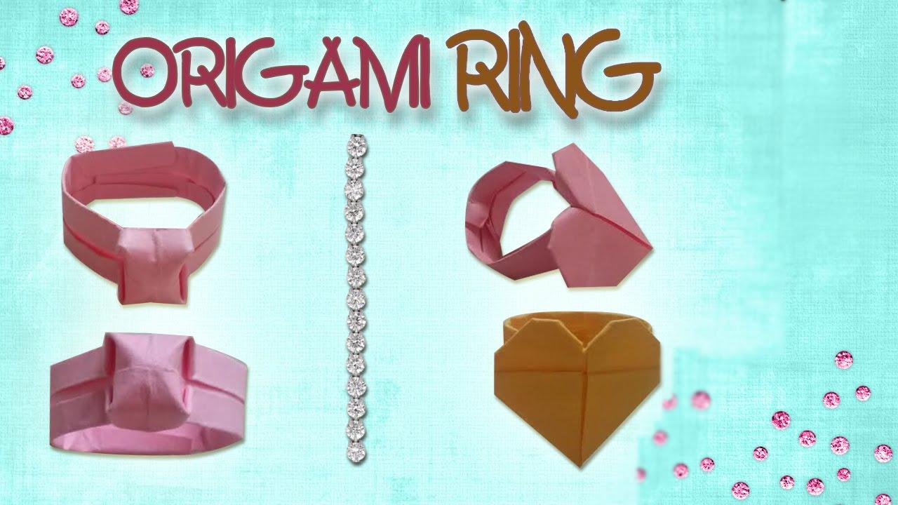 Origami Ring Diamondheart Ring Origami Easy Youtube