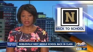 Students, staff return to Noblesville West Middle School