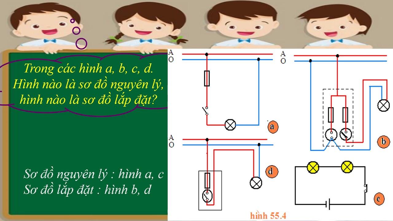 """NGT Công nghệ 8 Chủ đề """"Sơ đồ điện"""" (Bài 55)"""