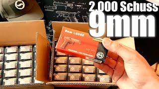 2000 Schuss 9mm und Verpackung für euch...