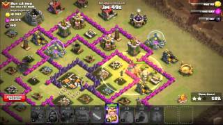 Gemando e atacando com mago 5(clash of clans)Gemando 5 and Attack magician ( clans clash )