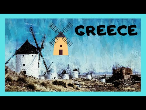 GREECE, the historic and abandoned windmills of the island of SALAMINA