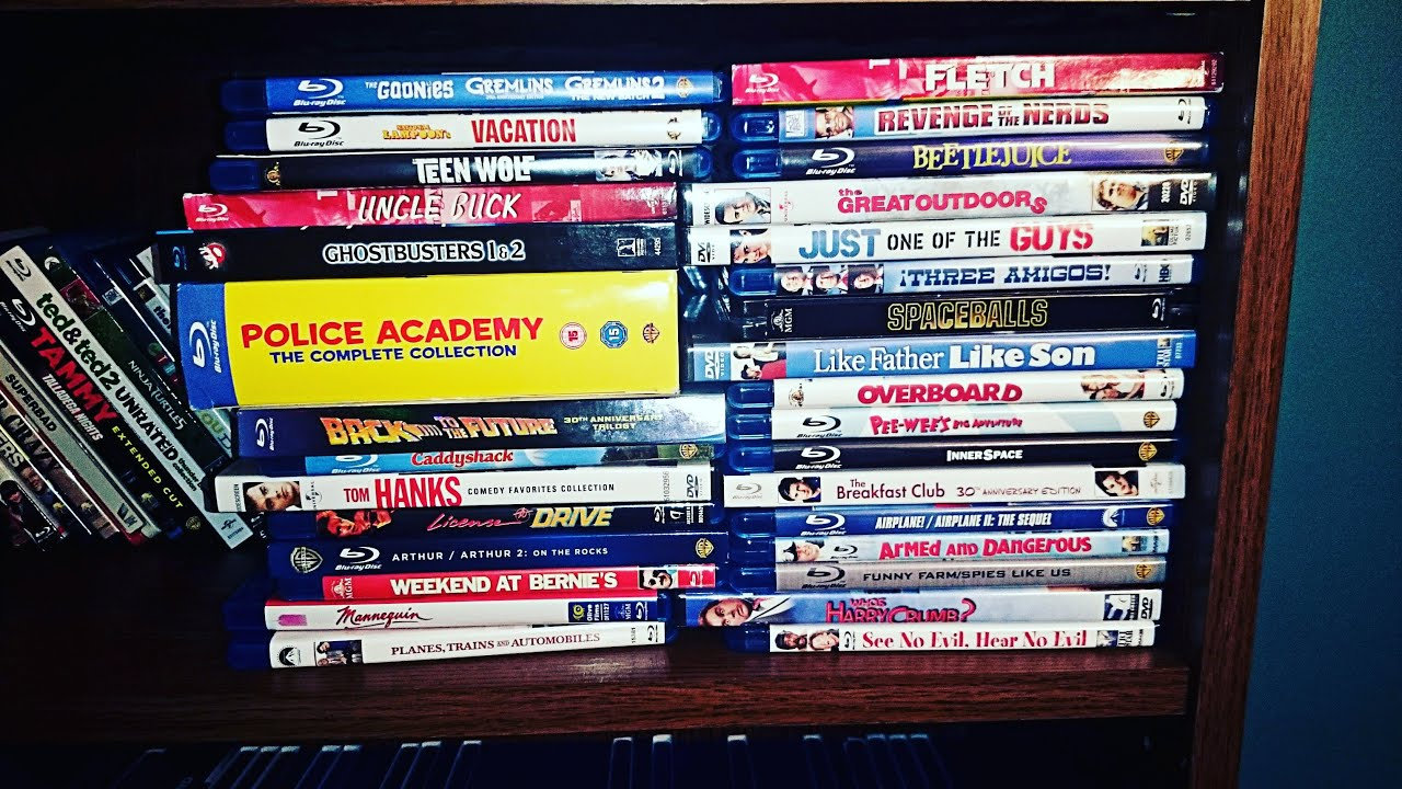 my top 30 favorite 80s comedy movies in my collection